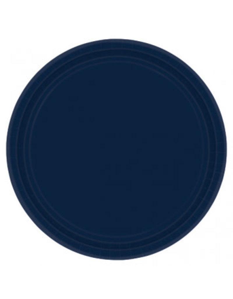 "True Navy 7"" Paper Plate (20)"