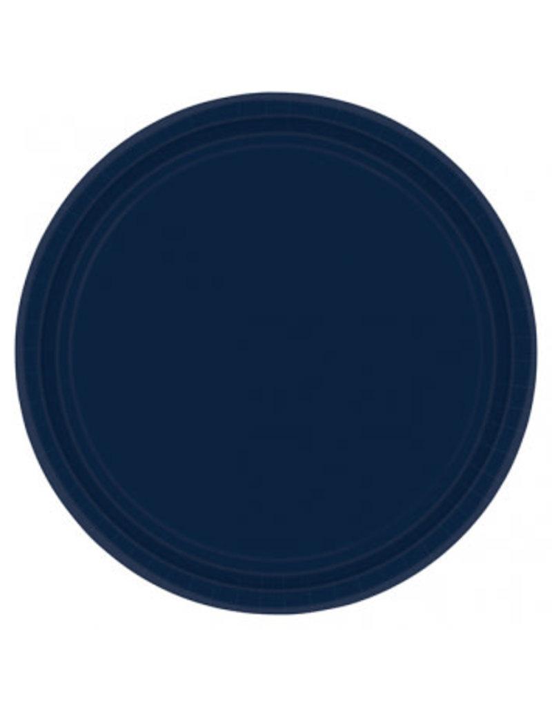 """True Navy 9"""" Paper Plates (20)"""