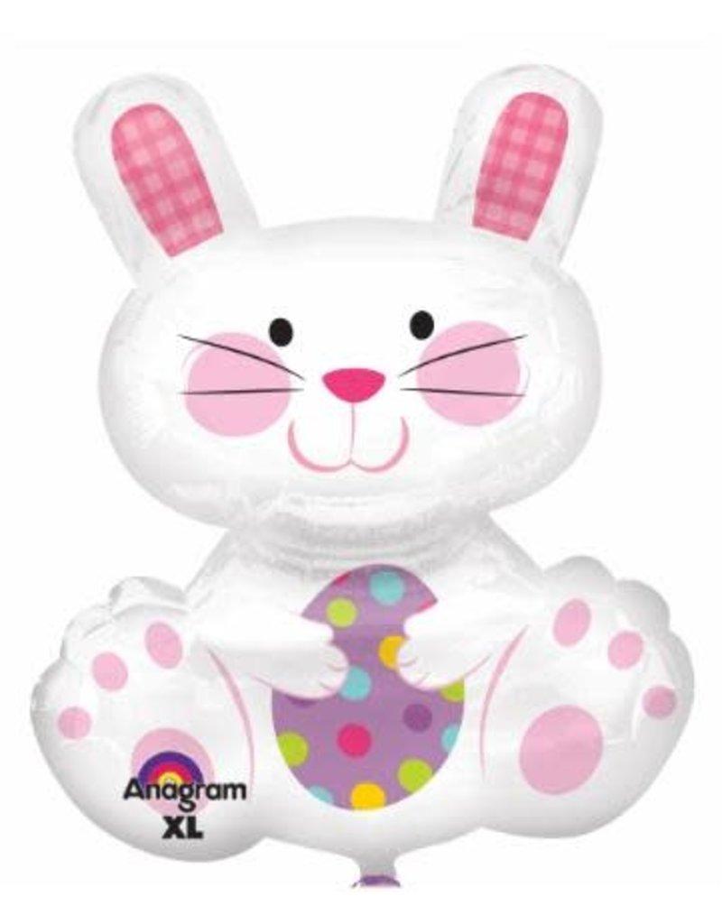 "Easter Enchantment Bunny 29"" Mylar Balloon"