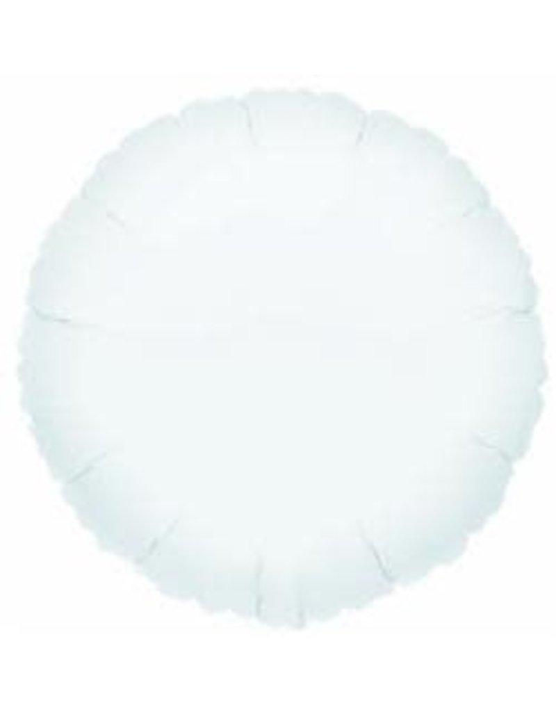 """White Round 18"""" Mylar Balloon"""