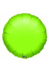 "Lime Green Round 18"" Mylar Balloon"