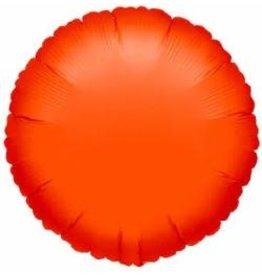 """Orange Round 18"""" Mylar Balloon"""