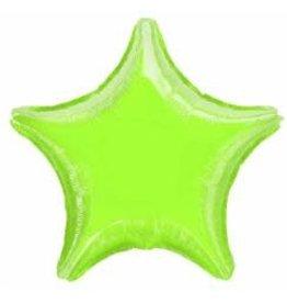 """Lime Green Star 18"""" Mylar Balloon"""