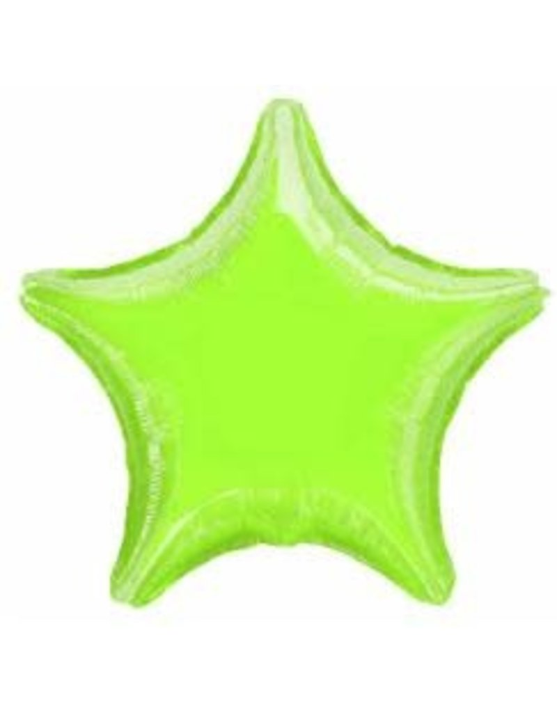 "Lime Green Star 18"" Mylar Balloon"