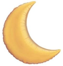 "Gold Crescent Moon 35"" Mlyar Balloon"