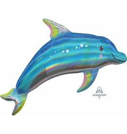 """Iridescent Dolphin 29"""" Mylar Balloon"""
