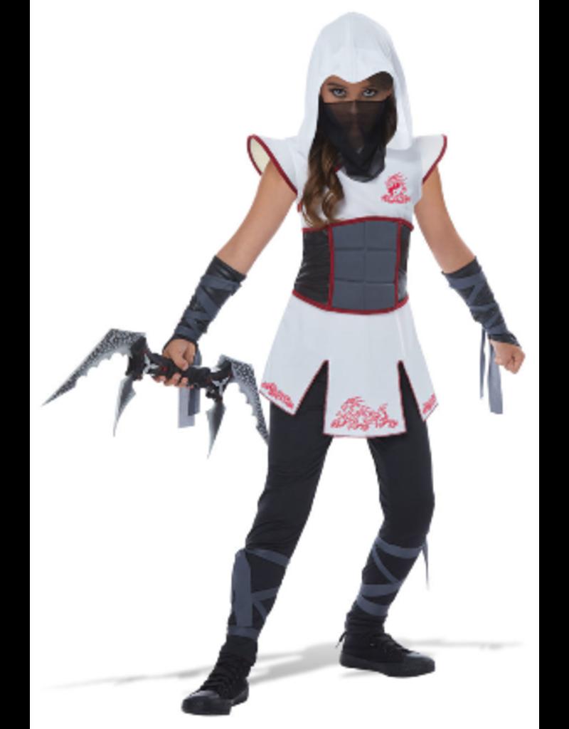 Child Fearless Ninja White/Red Medium (8-10) Costume