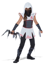 Child Fearless Ninja White/Red Large Costume