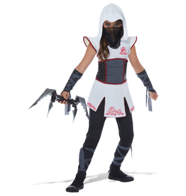 Children's Costume Fearless Ninja White/Red Large