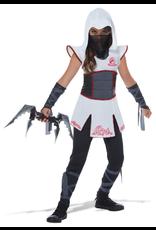 Child Fearless Ninja White/Red XLarge Costume