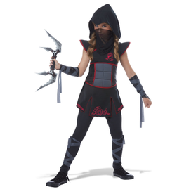Child Fearless Ninja Black/Red Large (12-14)