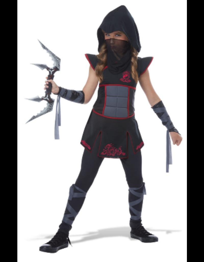Child Fearless Ninja Black/Red XLarge Costume