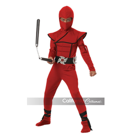 Children's Costume Red Stealth Ninja Small