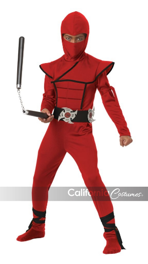 Child Red Stealth Ninja Small (4-6)
