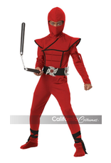 Child Red Stealth Ninja Medium (8-10)