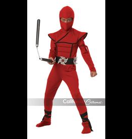 Children's Costume Red Stealth Ninja Medium
