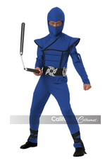 Child Blue Stealth Ninja Large (12-14) Costume