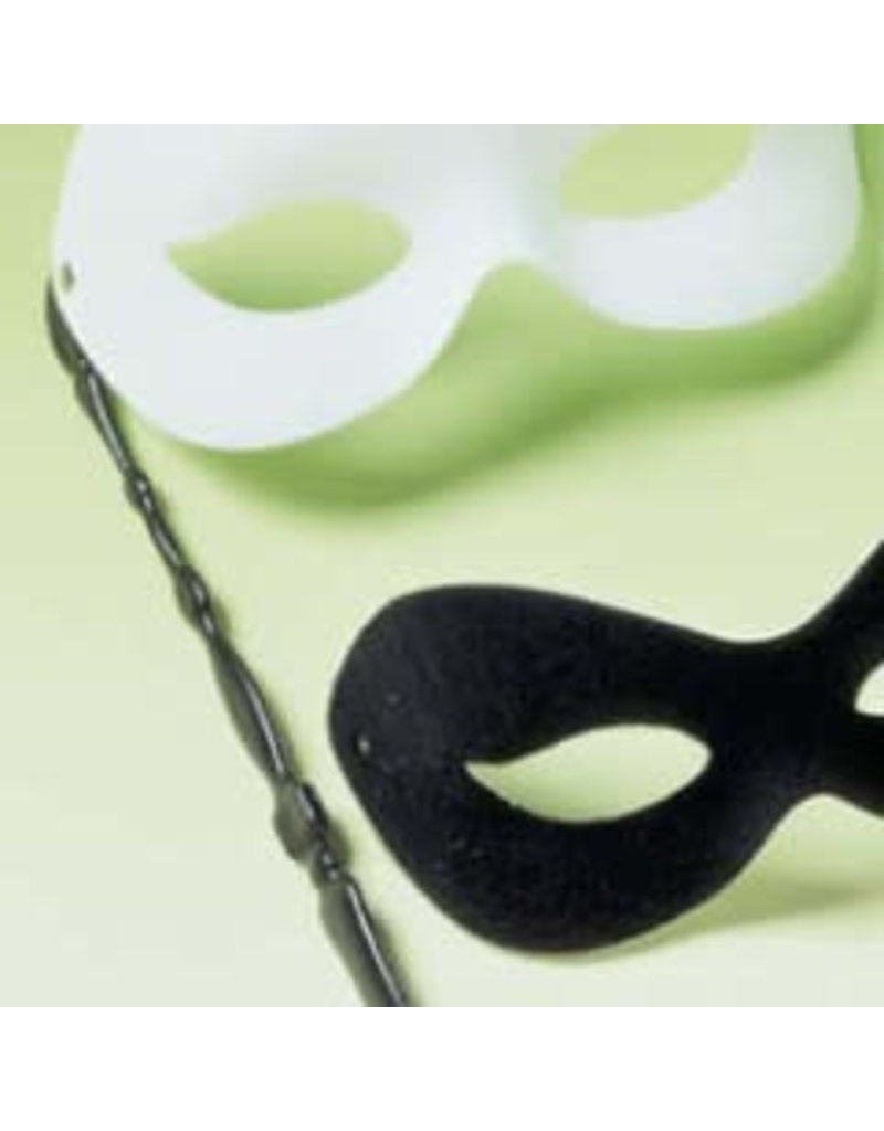 Manhattan White Eye mask on a Stick