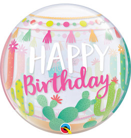 "Llama Birthday Party 22"" Bubble Balloon"