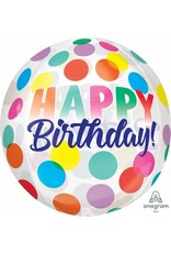 """Birthday Big Dots 16"""" Orbz Balloon"""