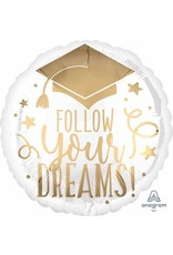 "Follow Your Dreams 18"" Mylar Balloon"