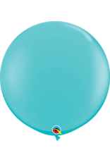 "36"" Carribbean Blue Balloon Uninflated"