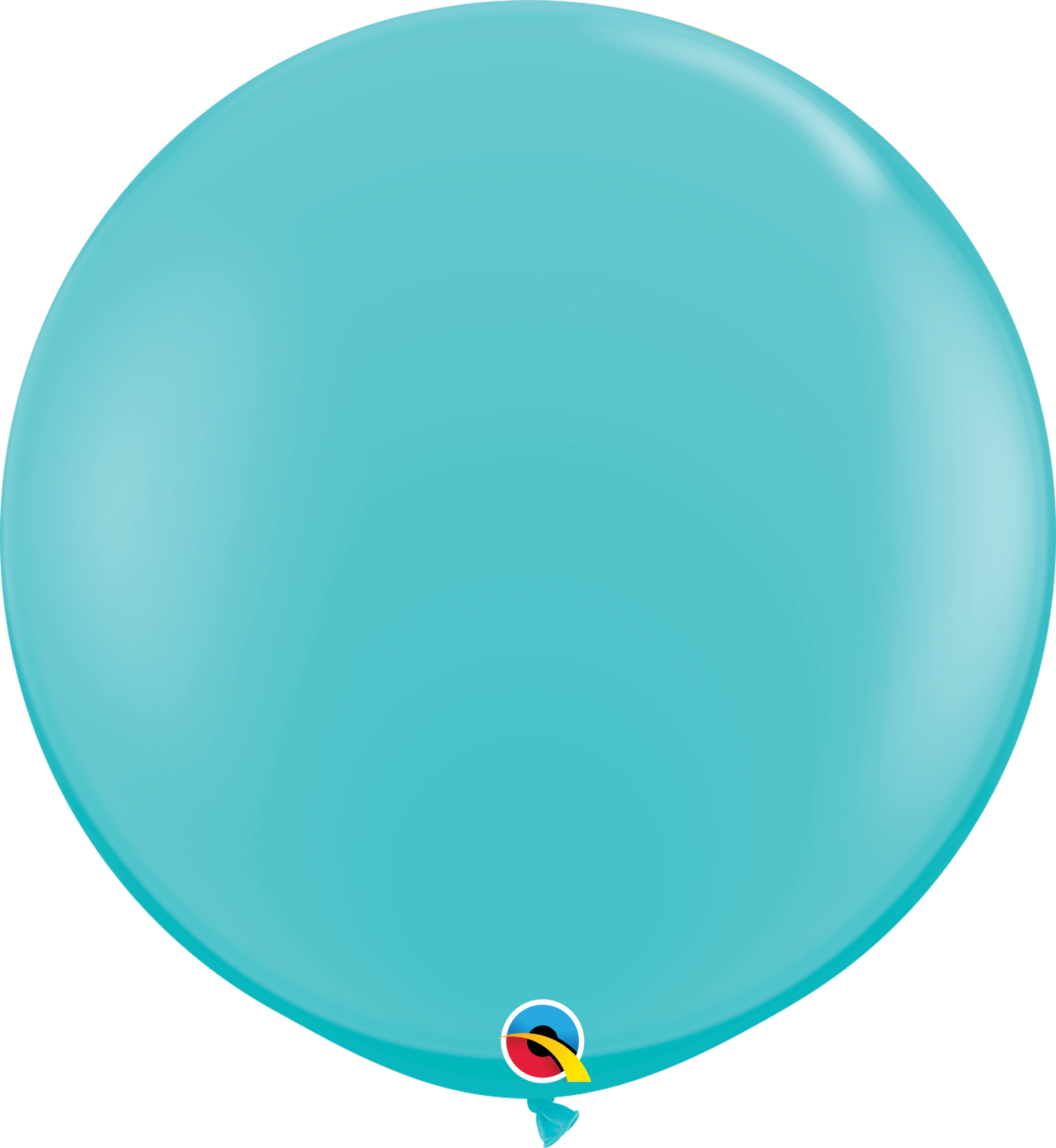 """36"""" Carribbean Blue Balloon (Without Helium)"""