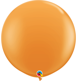 """36"""" Orange Balloon Uninflated"""