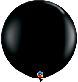 "36"" Onyx Black Balloon (Without Helium)"