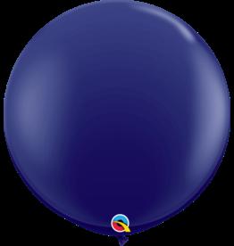 "36"" Navy Balloon Uninflated"