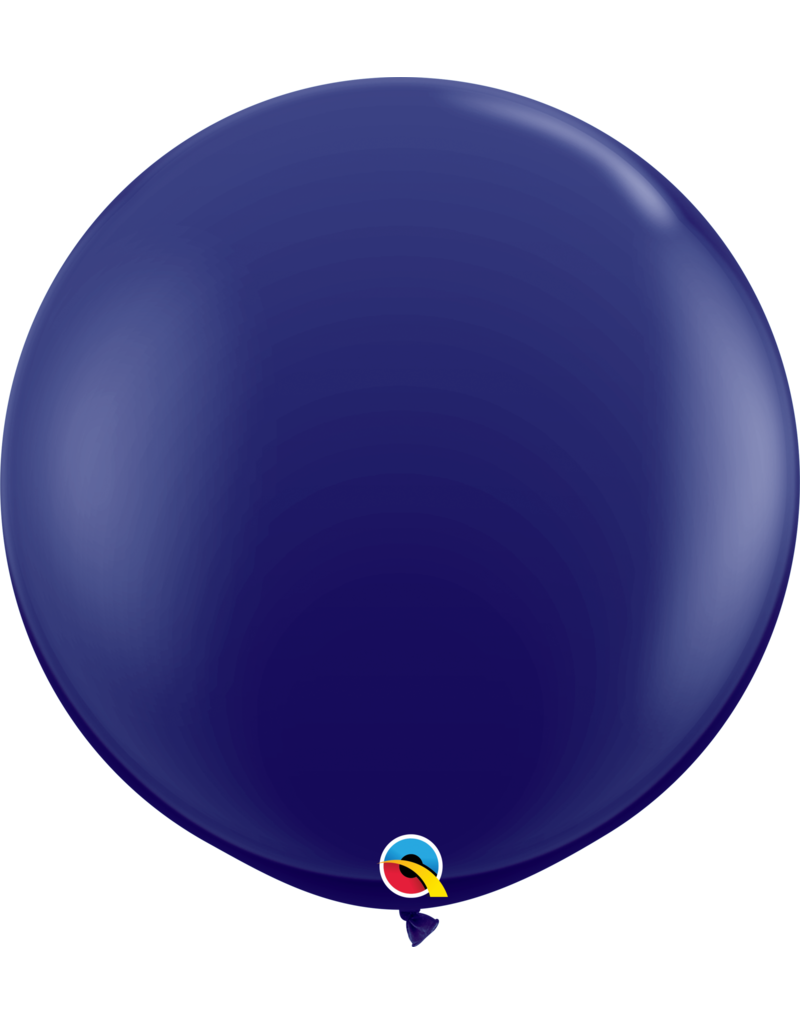 "36"" Navy Balloon (Without Helium)"