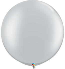 """30"""" Silver Balloon Uninflated"""