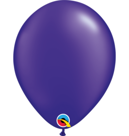 "11"" Pearl Quartz Purple Latex Balloon (Without Helium)"