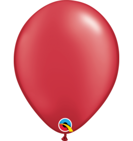 "11"" Pearl Ruby Red Latex Balloon (Without Helium)"