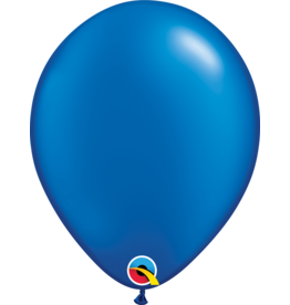 "11"" Pearl Sapphire Blue Latex Balloon (Without Helium)"