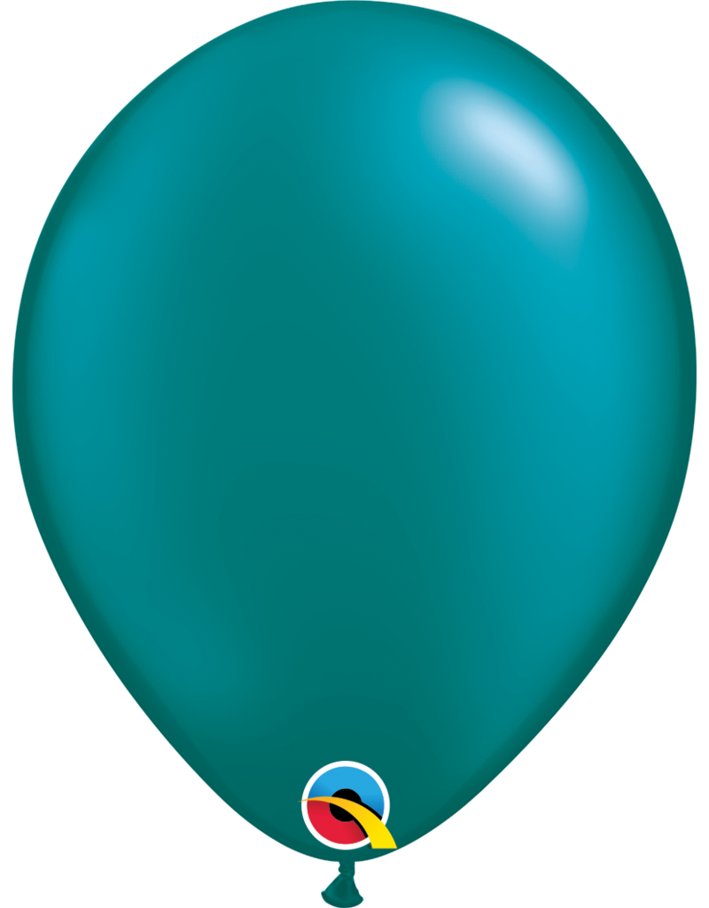 """11"""" Pearl Teal Latex Balloon (Without Helium)"""