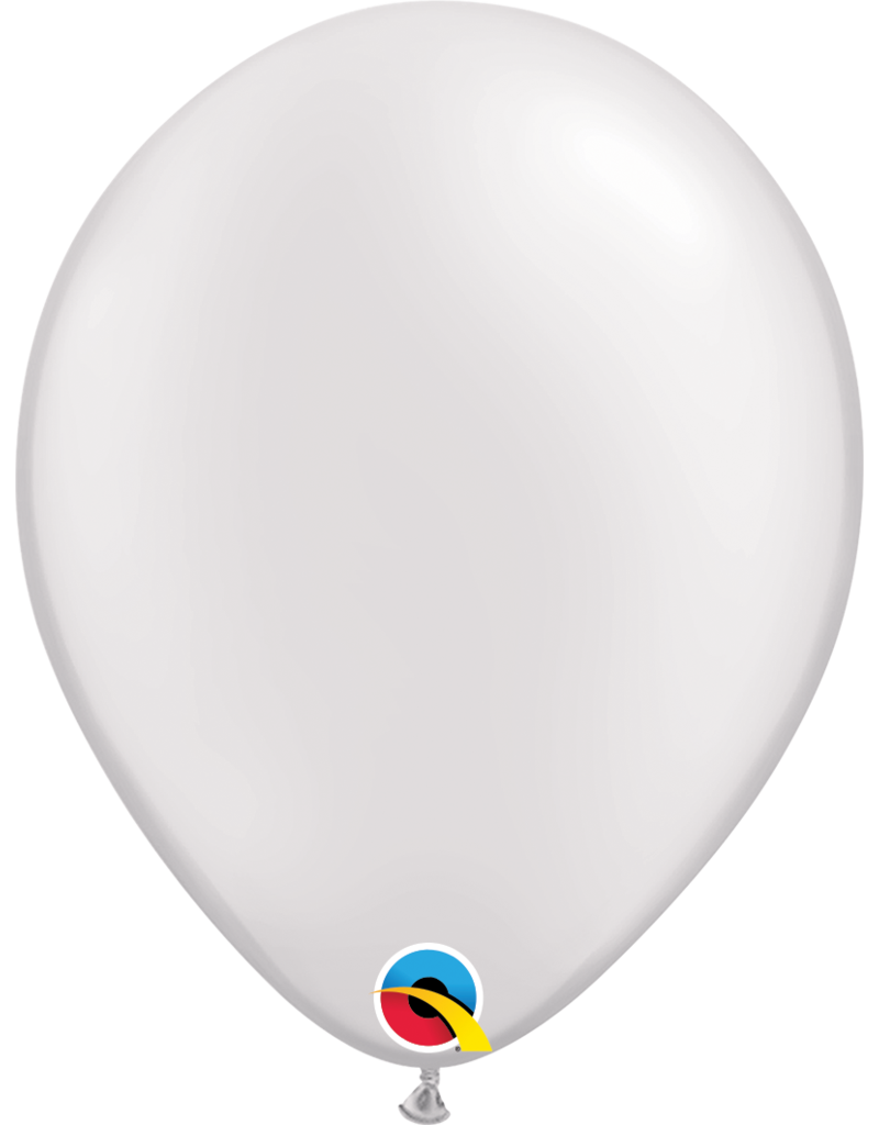 "11"" Pearl White Latex Balloon (Without Helium)"