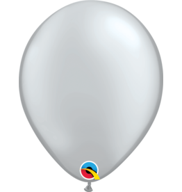 "11"" Silver Metallic Latex Balloon (Without Helium)"