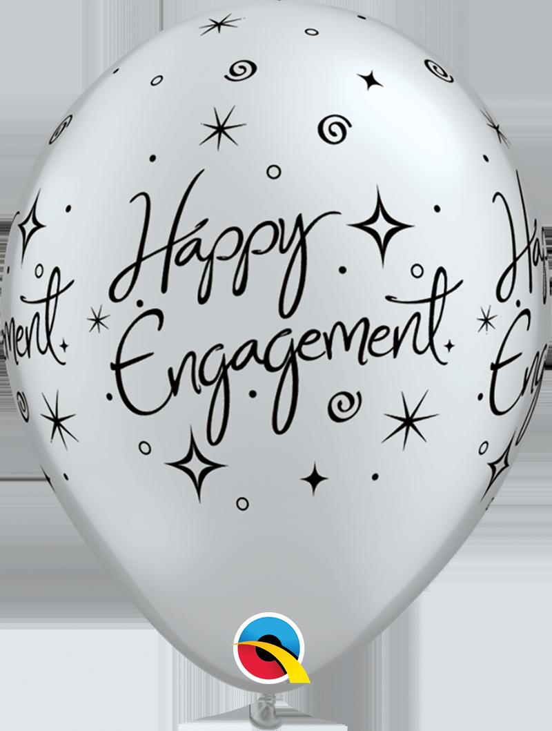 """11"""" Engagement Elegant Sparkle Balloon (Without Helium)"""