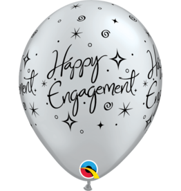 "11"" Engagement Elegant Sparkle Balloon (Without Helium)"