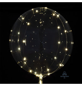 Crystal Clearz White LED Lights Bubble Balloon