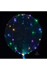 Crystal Clearz Multi LED Lights Bubble Balloon
