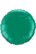 "Emerald Green Round 18"" Mylar Balloon"