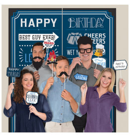 Happy Birthday Man Scene Setters® with Props