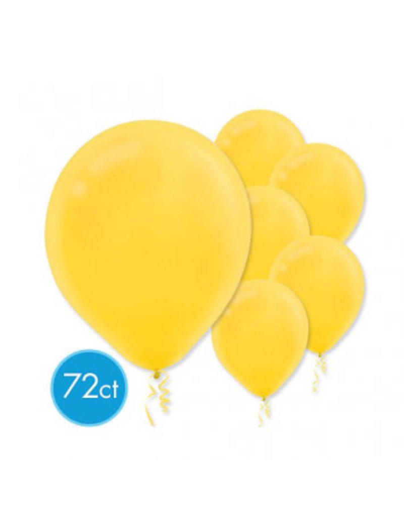 "Yellow Sunshine 11"" Latex Balloons (72)"