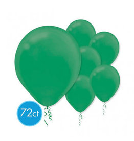 "Festive Green 11"" Latex Balloons (72)"