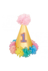 1st Birthday Girl Deluxe Cone Hat