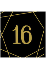 Elegant Sixteen Beverage Napkins - Hot Stamped (16)