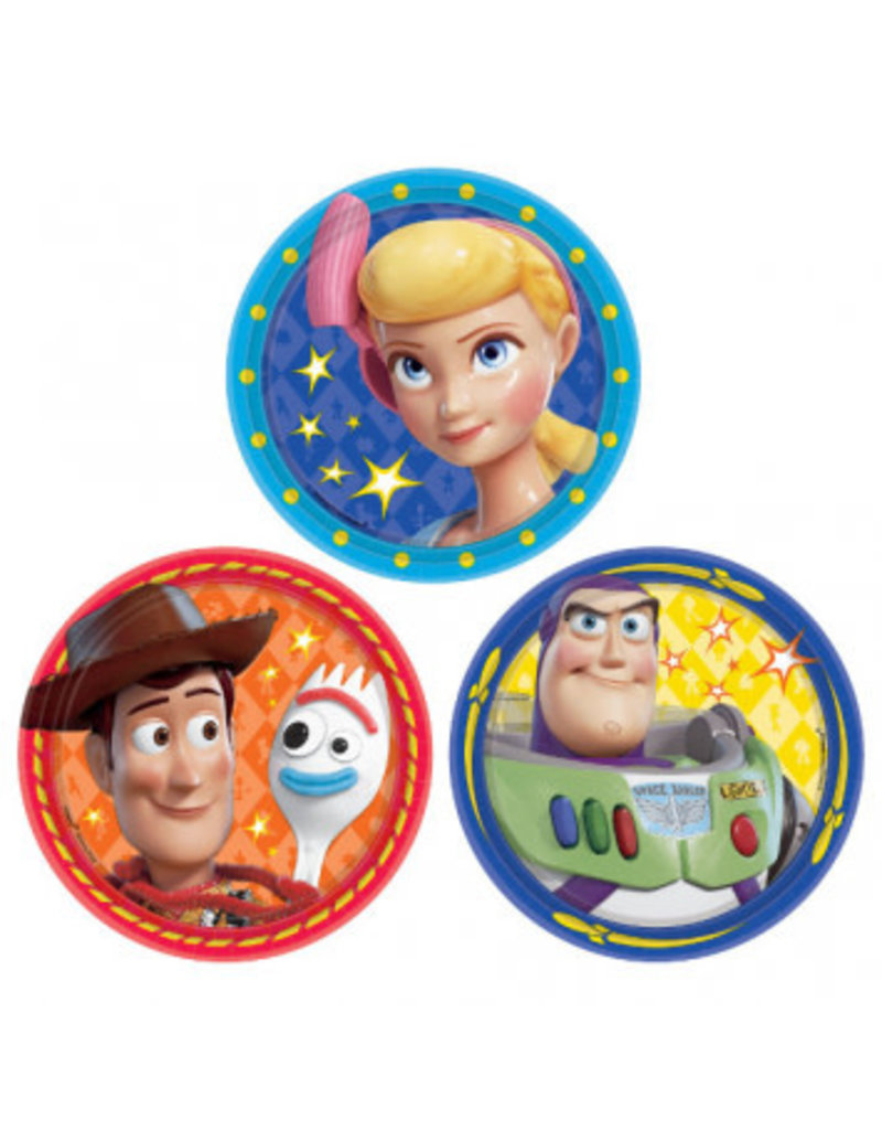 "©Disney/Pixar Toy Story 4 Assorted Round 7"" Plates (8)"