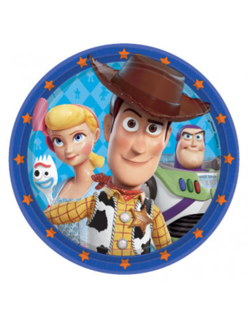 "Disney/Pixar Toy Story 4 Round 7"" Plates (8)"